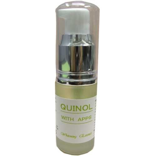 クイノールエッセンス APPS植物プラセンタ・植物エキス・白金ナノコロイド・αアルブチンなどを配合。クイノールと一緒にも使えます