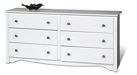Furniture By Prepac White Monterey 6 Drawer Dresser