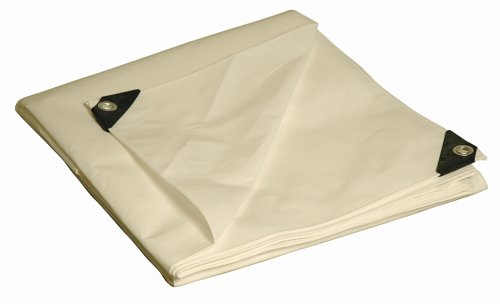 12' x 20' Dry Top Heavy Duty White Full Size 10-mil Poly Tarp item #312201 picture