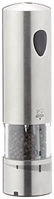 Peugeot Elis Rechargeable Electric Pepper Mill, Stainless Steel Brushed, 20cm by Chomette Dornberger