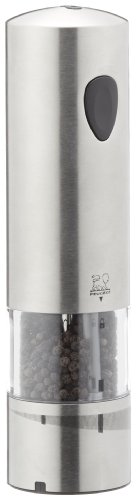 Peugeot Elis Rechargeable Electric Pepper Mill, Stainless Steel Brushed, 20cm