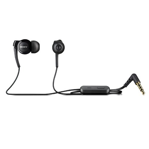 Original Black Handsfree In Ear Earphone Headset With Mic For Xperia Z L36H