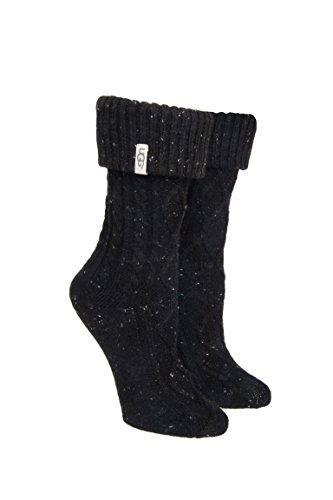 UGG Australia Women's Sienna Short Rainboot Socks (Black,O/S) (Rain Boot Short Socks compare prices)