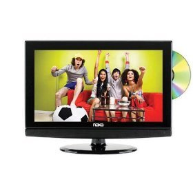 Naxa 15.6 Inch Widescreen HDTV LCD w/ Built-in ATSC Digital TV Tuner & DVD Player, AC/DC - NDT-15-555