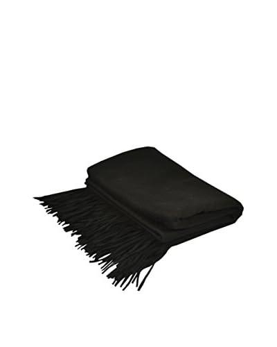PÜR Cashmere Merino Wool Throw, Black