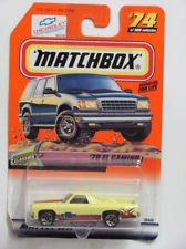 MATCHBOX YELLOW 70 EL CAMINO DIECAST VEHICLE by AFLOT2-TOY-ELCMN0-035995307827-N