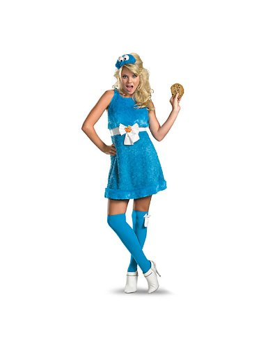 Sesame Street - Cookie Monster Sassy Female Adult Costume Sesame Street