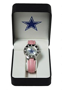 Dallas Cowboys Ladies Watch - Pink band and rhinestone trim at Amazon.com
