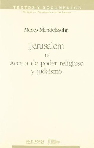 Jerusalem O Acerca De Poder Religioso Y Judaísmo
