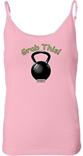 Buy Cool Shirts Ladies Grab This Kettlebell Pink Built In Bra Tank Top Md