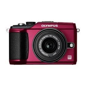Olympus 262916 E-PL2 14-42mm Digital Camera (Red)