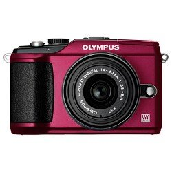 Olympus 262916 Pen E-PL2 12.3 MP CMOS Micro Four Thirds Interchangeable Lens Digital Camera with 14-42mm Lens (Red)