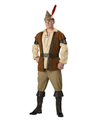 Adult-Costume Robin Hood Adult Xxlarge Halloween Costume - Adult 2X Large