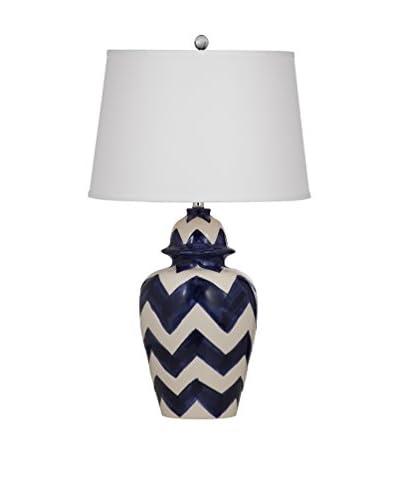 Bassett Mirror Co. Russell 1-Light Table Lamp, Royal Blue