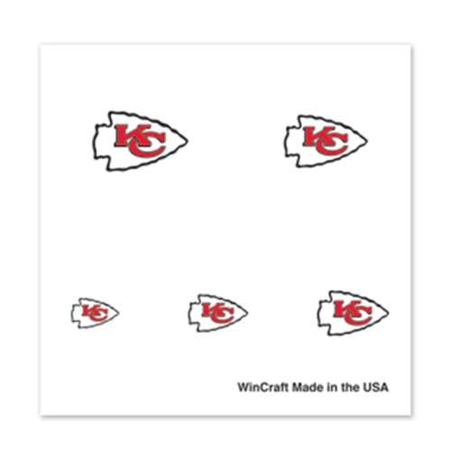 Kansas City Chiefs Fingernail Tattoos - 4 Pack - 1