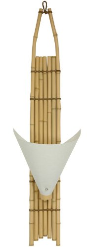 "Unique Asian Decor Decorative Lighting Ideas - 40"" Baku Japanese Design Bamboo Wall Sconce - Light"