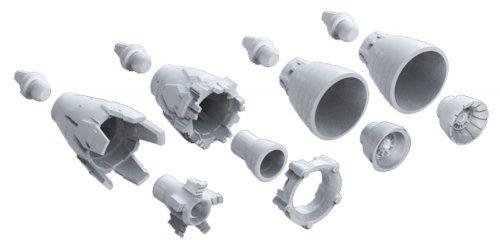 Bandai Hobby MS Vernier 01 1/144 Bandai Builder Parts Action Figure (Box/12) - 1