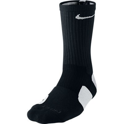 Nike Dri-Fit Elite Basketball Socks (Medium), Black, White