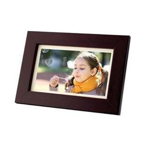Coby DP700WD 7-Inch Widescreen Digital Photo Frame (Wood Design)