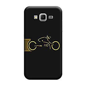 Desicase Samsung Core Prime G360 Tron wallpaper 3D Matte Finishing Printed Designer Hard Back Case Cover (Yellow)