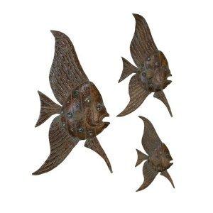large metal fish wall art
