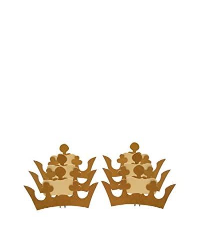 Wendy Addison Set of Six Gilded Crown Place Card Holders