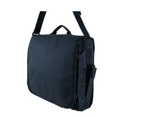 Boys Mens Girls Black North & South Large Student Messenger Bag Dispatch Holds A4 Folders School College Shoulder Bag - Peppermint Bags