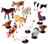 US Toy Company 2386 Farm Animals, 12 piece - 1