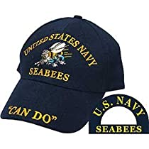 United States Navy Seabees Hat Blue