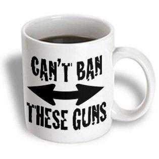 Evadane - Funny Quotes - Cant Ban These Guns, Black - Mugs - 15Oz Mug (Mug_178120_2)
