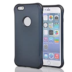 Phone Case for iPhone 6 Plus,Trade A Armored Hybrid TPU Cover + Hard Outter Shell with Free Screen Protector and Stylus (Dark Blue&Black)