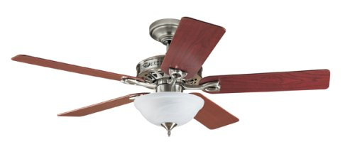 Hunter 22460 The Astoria 52-Inch Five Blades Ceiling Fan, Brushed Nickel with Bowl