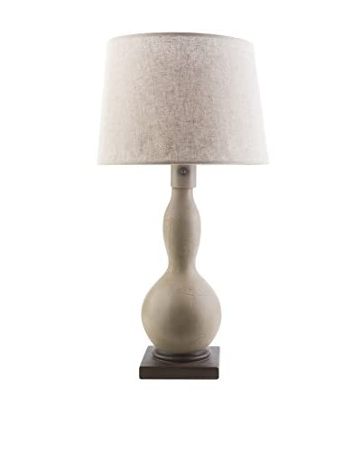 Surya Koa Outdoor Table Lamp, Taupe