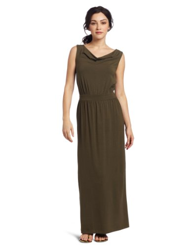 Lilla P Women's Stretch Draped Maxi Tank Dress
