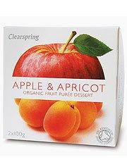 Clearspring Purée de fruit Pomme et Abricot 2 X 100g x 4