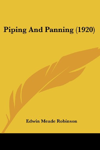 Piping and Panning (1920)