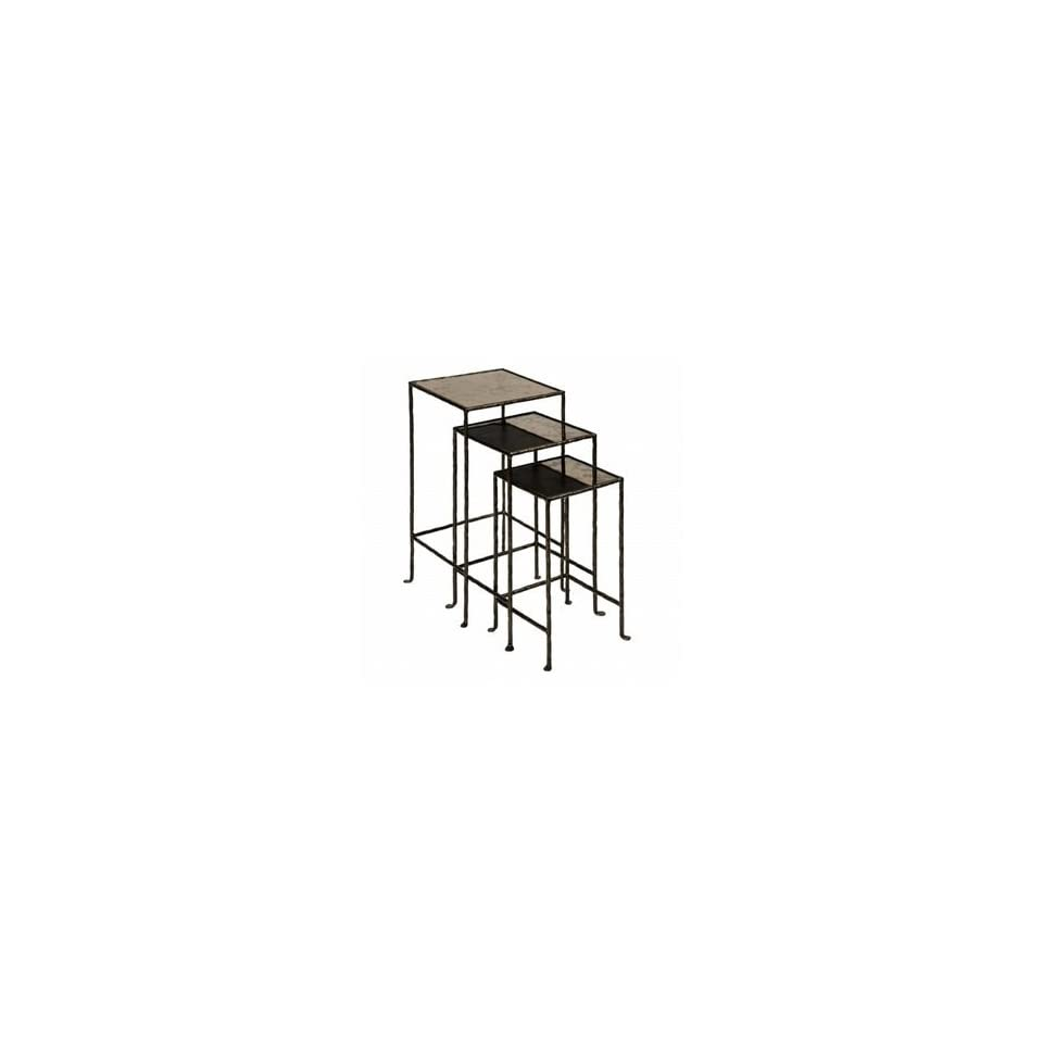 Nesting Iron Square Plant Stand Table Set