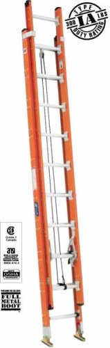 14 Aluminum Extension Ladder : Fiberglass single ladder round rung