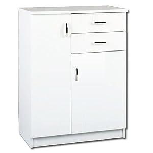 Mobile bagno bianco lucido 2 ante e 2 cassetti - Mobile cucina bianco ...