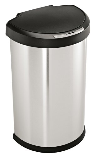 simplehuman Semi-Round Sensor Can, 1st Generation (Discontinued), Automatic Trash Can, Stainless Steel, 45 L / 12 Gal (Wine Barrel Garbage Can compare prices)