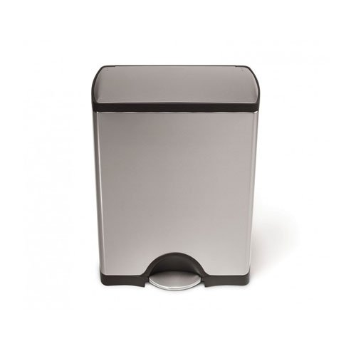simplehuman Rectangular Step Trash Can, Stainless Steel, 50 L / 13.2 Gal (Garbage Can Simplehuman compare prices)