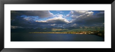 Clouded Sky over a Lake, Flathead Lake, Swan Range, Polson, Montana