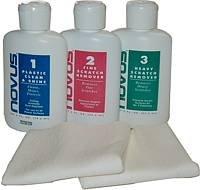 Novus 1, 2, 3 Kit Plastic Polish And Scratch Remover 8 Oz. On 3 Bottles Inside Kit