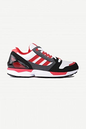 Adidas ZX 8000 Schuhe running white-collegiate red-core black US8.5