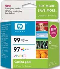 Genuine HP 97 / 99 Ink Cartridge Combo Pack, HP C9517FN