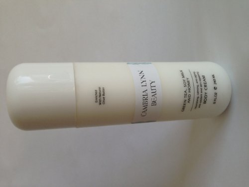 Premium Anti Aging Body Cream Made With Green Tea, Soy Milk, And Honey. 8Oz Bottle Made By Cambria Lynn Beauty.