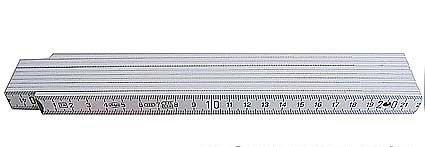 1-Stck-Zollstock-2m-10-Glieder-weiss-Gliedermastab