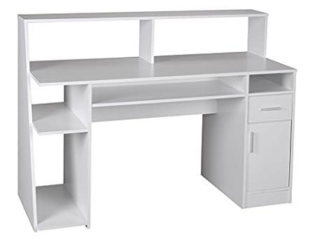 1PLUS Multifunktion Schreibtisch Computertisch weiß 135 x 60 x 100 cm