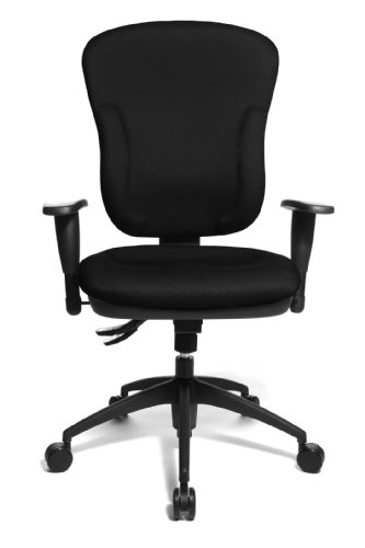Topstar 8060KBC0E Wellpoint 30 Comfortable Office Swivel Chair with Convenient Moulded Upholstery Foam - Black