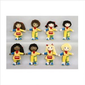 Childrens Factory - Ethnic Learn To Dress Girl Doll - White Skin Tone